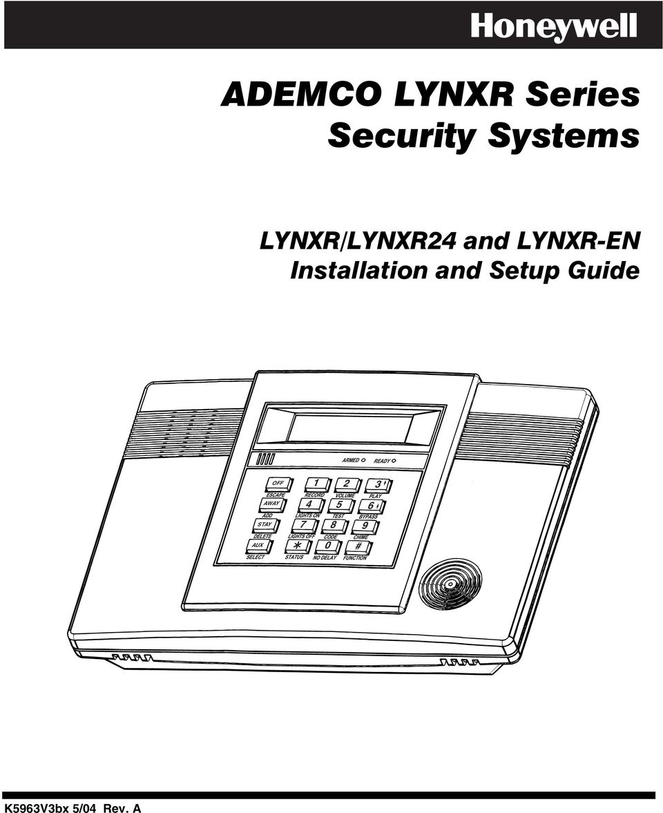ADEMCO LYNXR Series Security Systems - PDF