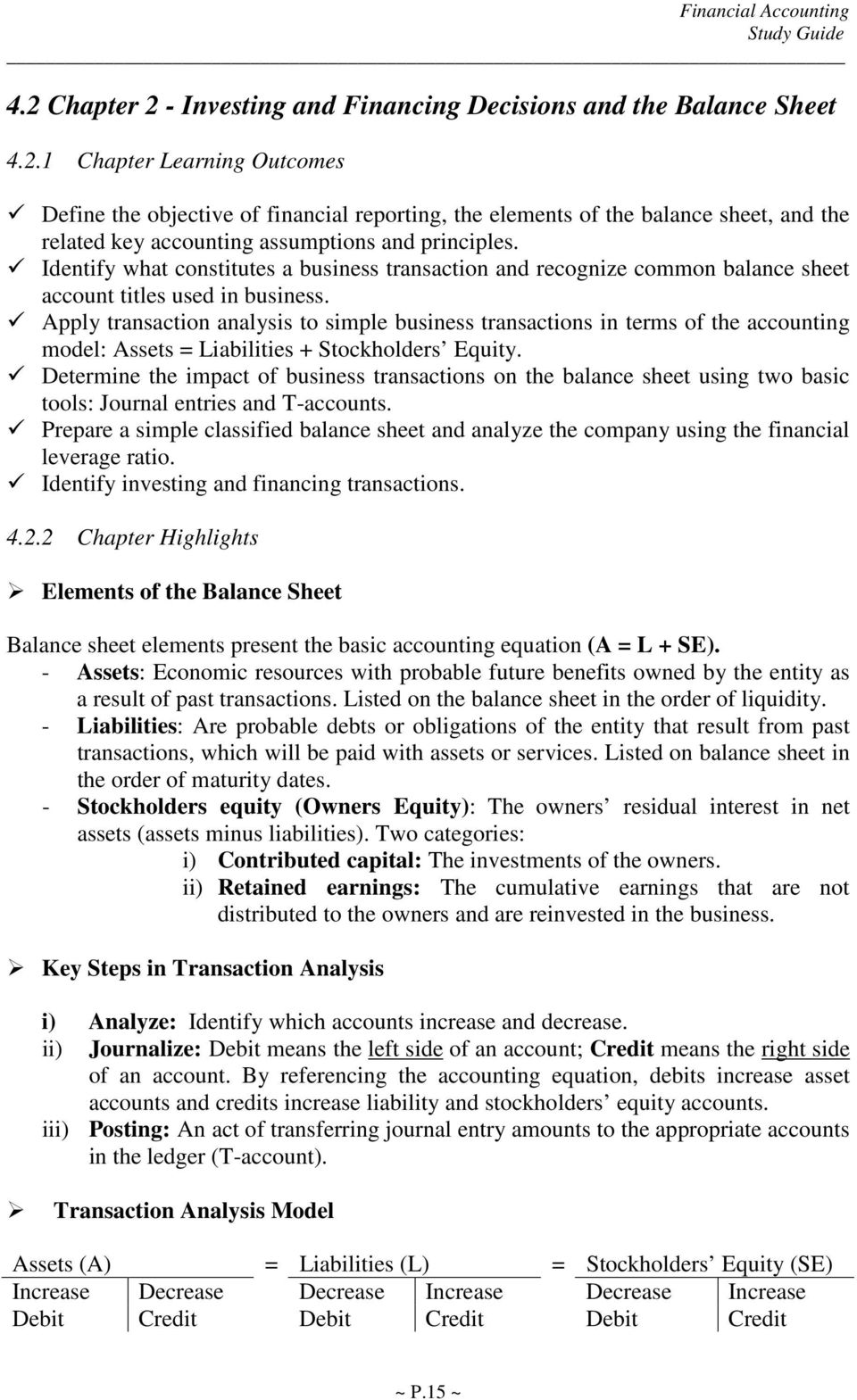 Apply transaction analysis to simple business transactions in terms of the  accounting model: Assets =