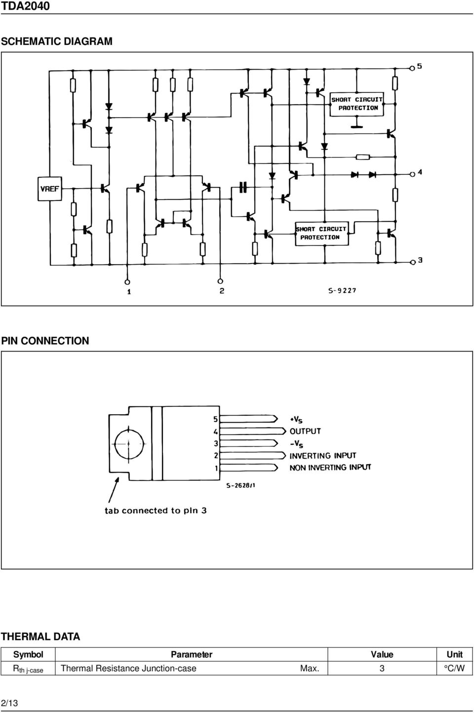 Tda W Hi Fi Audio Power Amplifier Pdf How To Build Your Own 10watt Using An Ic 2003 Value Unit R Th J Case Thermal