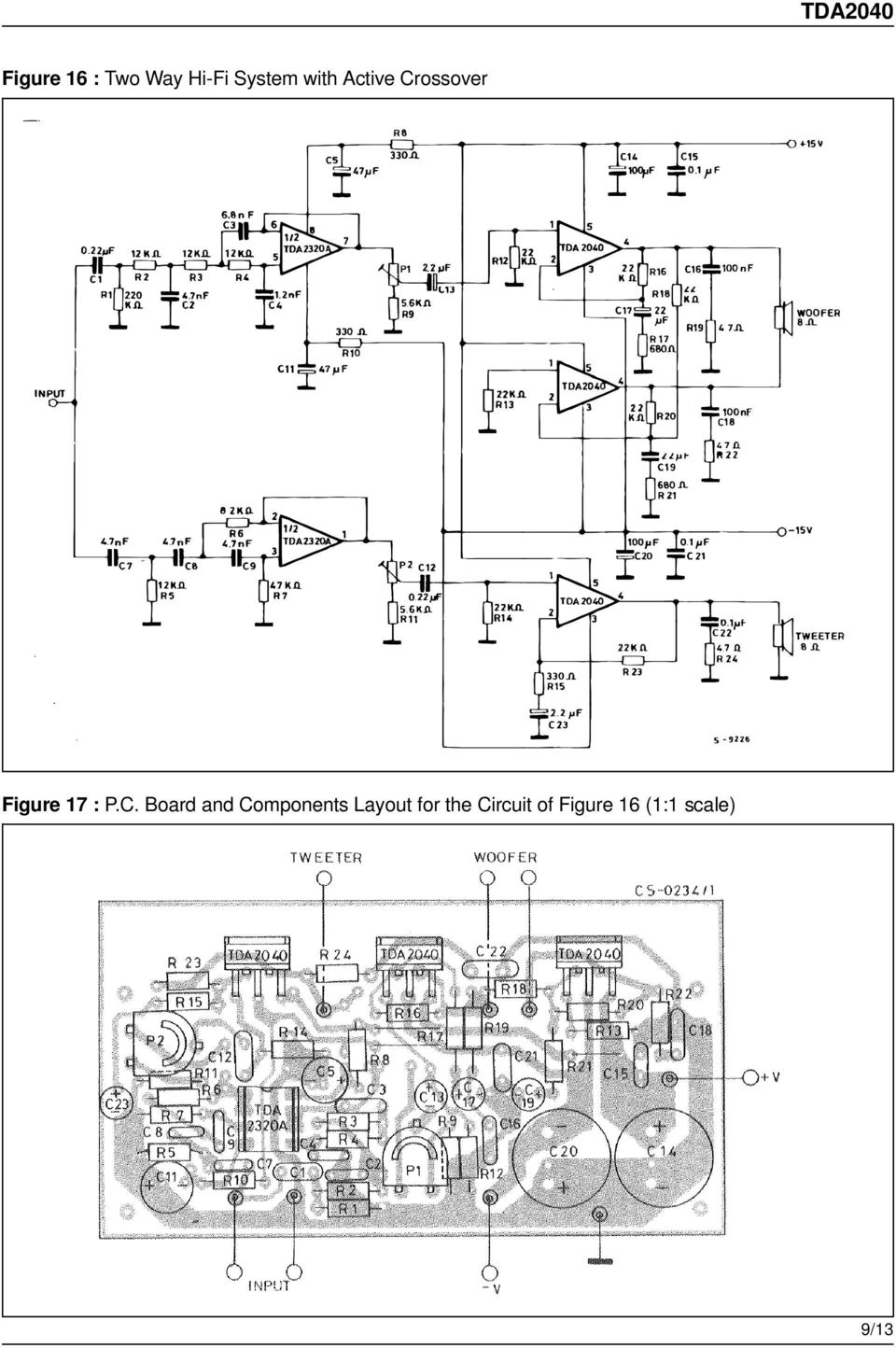 Tda W Hi Fi Audio Power Amplifier Pdf 18w Circuit And Explanation Electronic Circuits C Board Components Layout For