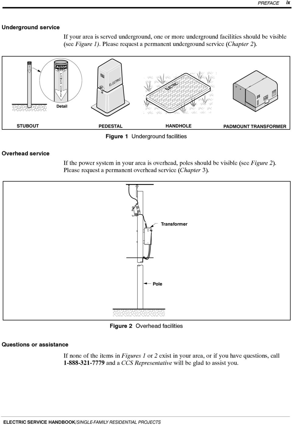 June 2014 Electric Service Handbook Pdf Residential Electrical Diagram Transformer Overhead If The Power System In Your Area Is Poles Should Be