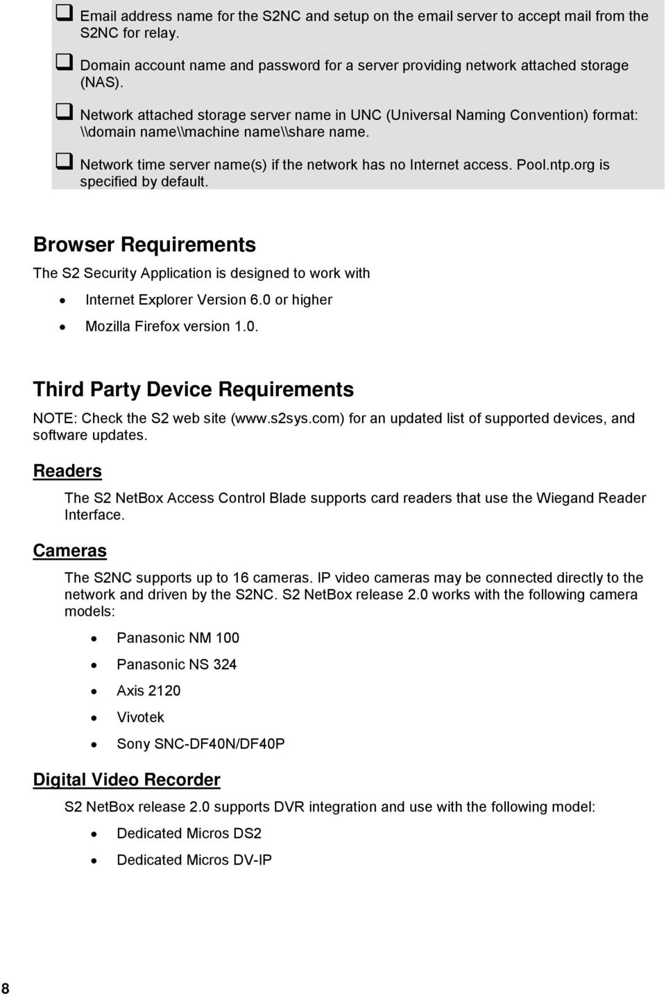 S2 Security Corporation NetBox  Installation Guide - PDF
