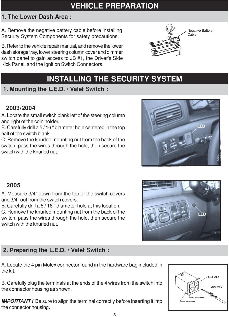 2003 2004 2005 Toyota Corolla Pdf The Form Below To Delete This Thread Install Trailer Wiring Harness Switch Connectors Installing Security System 1 Mounting Led Valet