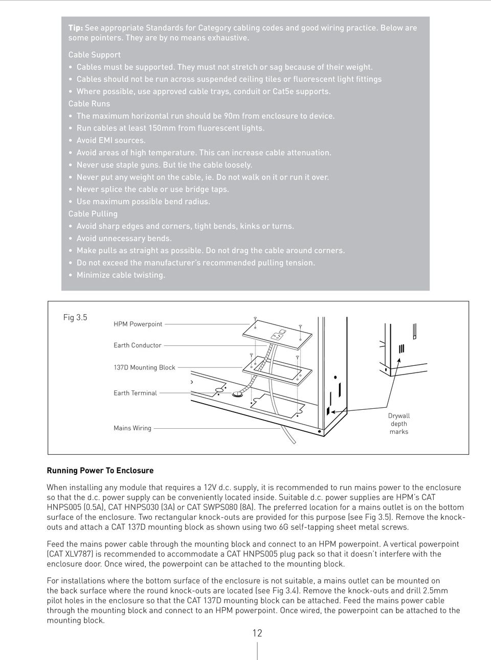 Hpm Home Networks Installation Manual Pdf Commercial Wiring Powerpoint Presentation Cables Should Not Be Run Across Suspended Ceiling Tiles Or Fluorescent Light Fittings Where Possible