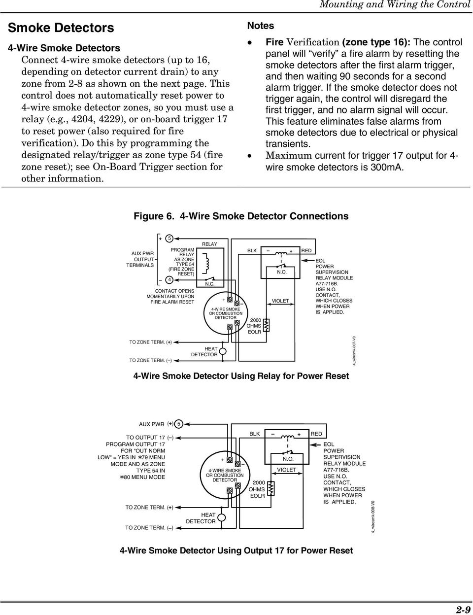 Smoke Detector Wiring Supervision Download Diagrams How To Wire A Diagram Ademco Vista 12a 12e Security Systems Pdf Nest Of Photoelectric Detectors