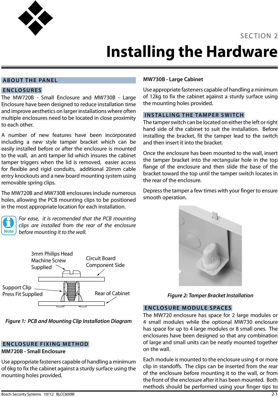 Solution 144 Security Systems Pdf Freewave Wiring Diagram A Number Of New Features Have Been Incorporated Including Style Tamper Bracket Which Can 18 Installation Manual
