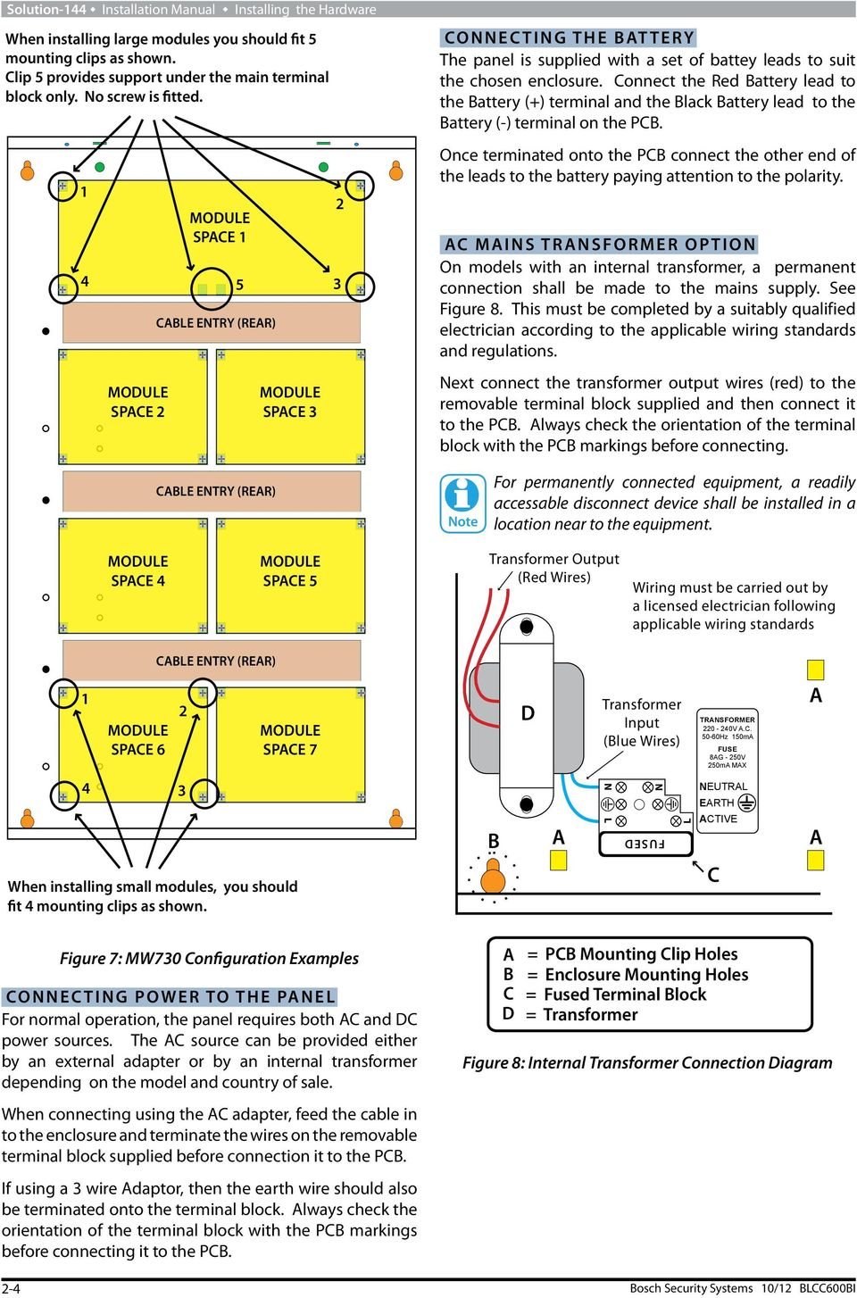 Solution 144 Security Systems Pdf Wiring And Transformer Connection Diagram 2 4 Connect The Red Battery Lead To Terminal Black