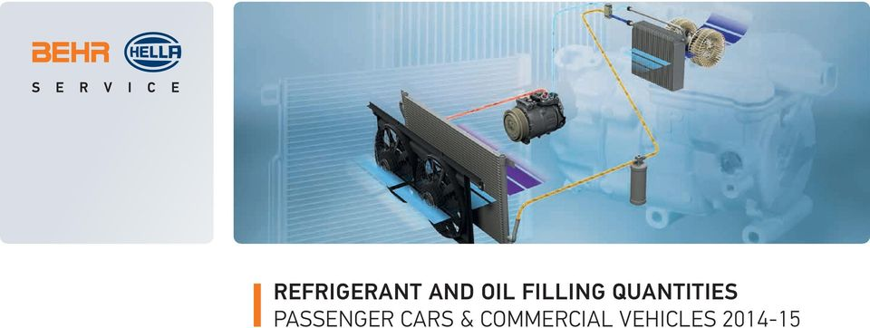 REFRIGERANT AND OIL FILLING QUANTITIES PASSENGER CARS