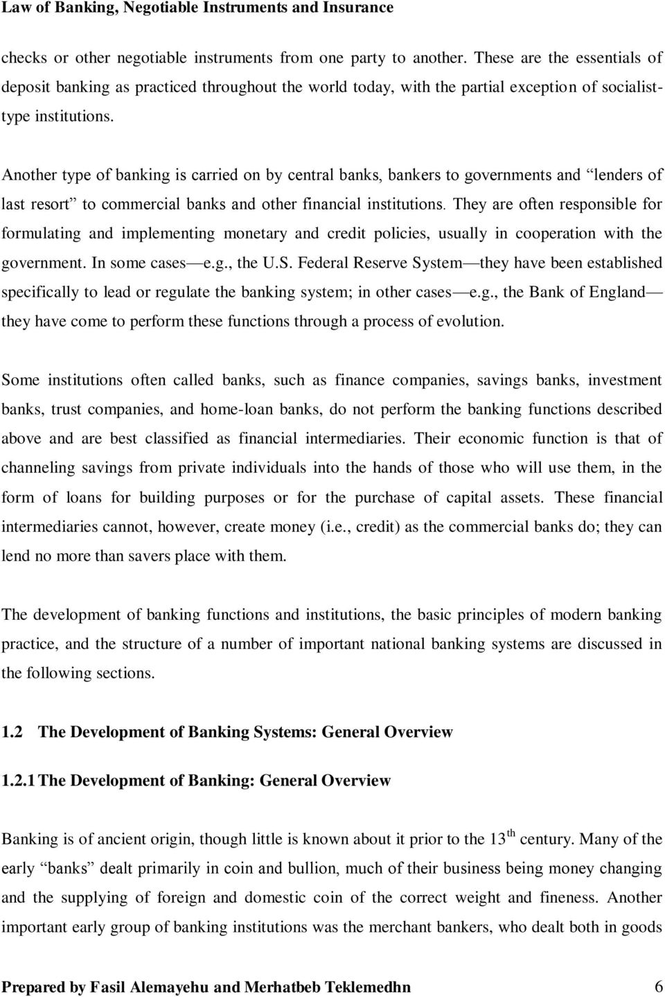 Law Of Banking Negotiable Instruments And Insurance Teaching