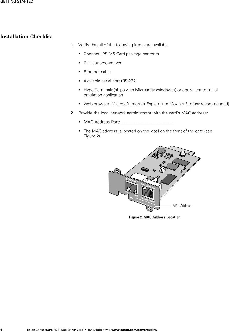 Eaton Connectups Ms Web Snmp Card Users Guide Pdf Wiring Diagram Hyperterminal Ships With Microsoft Windows Or Equivalent Terminal Emulation Application Browser