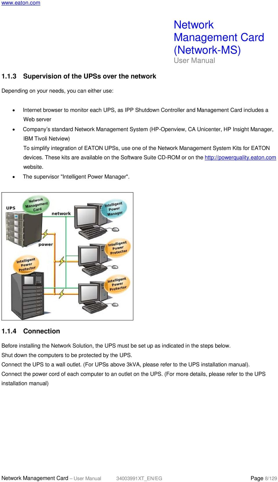 Network Management Card Ms User Manual Pdf Power Over Ethernet Wiring Diagram Interface Schematic These Kits Are Available On The Software Suite Cd Rom Or Http