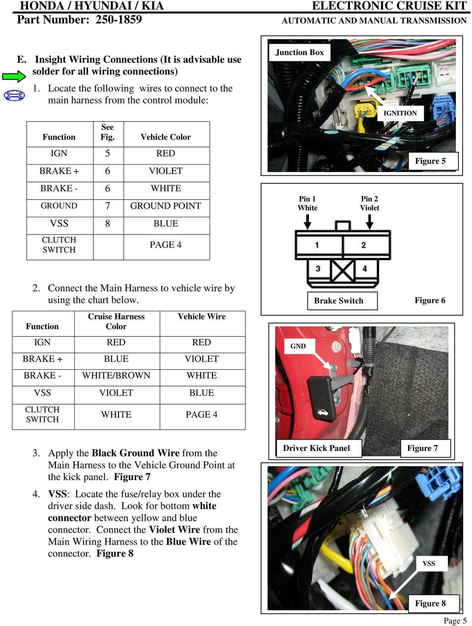 6 Wire Harness Black Red Part Number Pdf Connect The Main To Vehicle By Using Chart Below Function Ign
