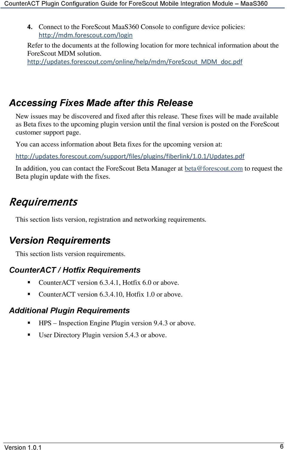 pdf Accessing Fixes Made after this Release New issues may be discovered and fixed after this release.