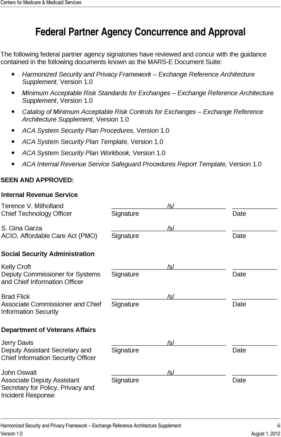 Harmonized Security And Privacy Framework Exchange Reference