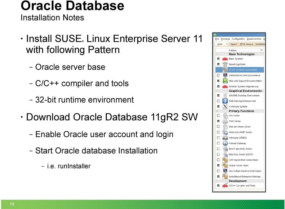 Oracle Products on SUSE Linux Enterprise Server 11 - PDF