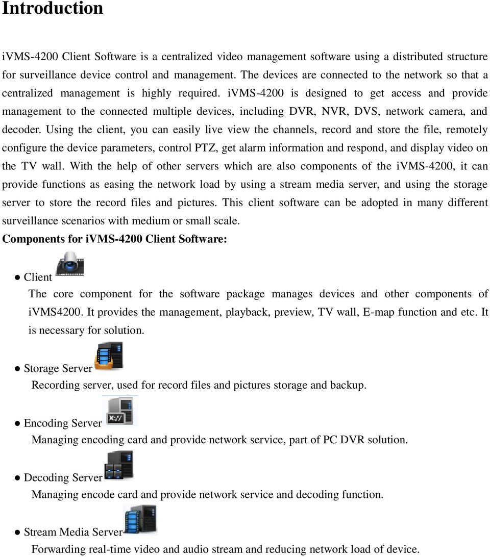 ivms-4200 Client Software Technical Specification v PDF