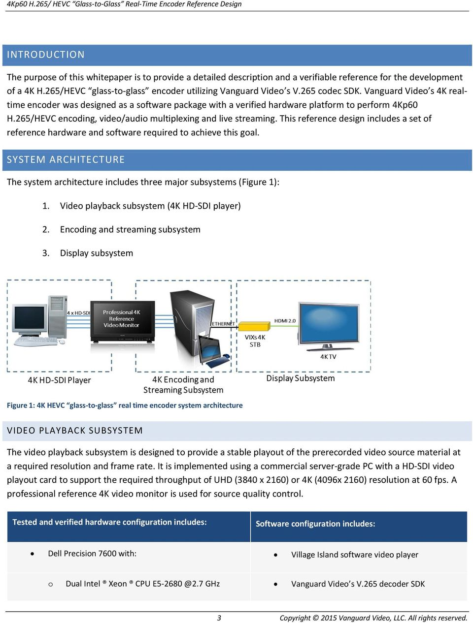 4Kp60 H 265/HEVC Glass-to-Glass Real-Time Encoder Reference Design - PDF