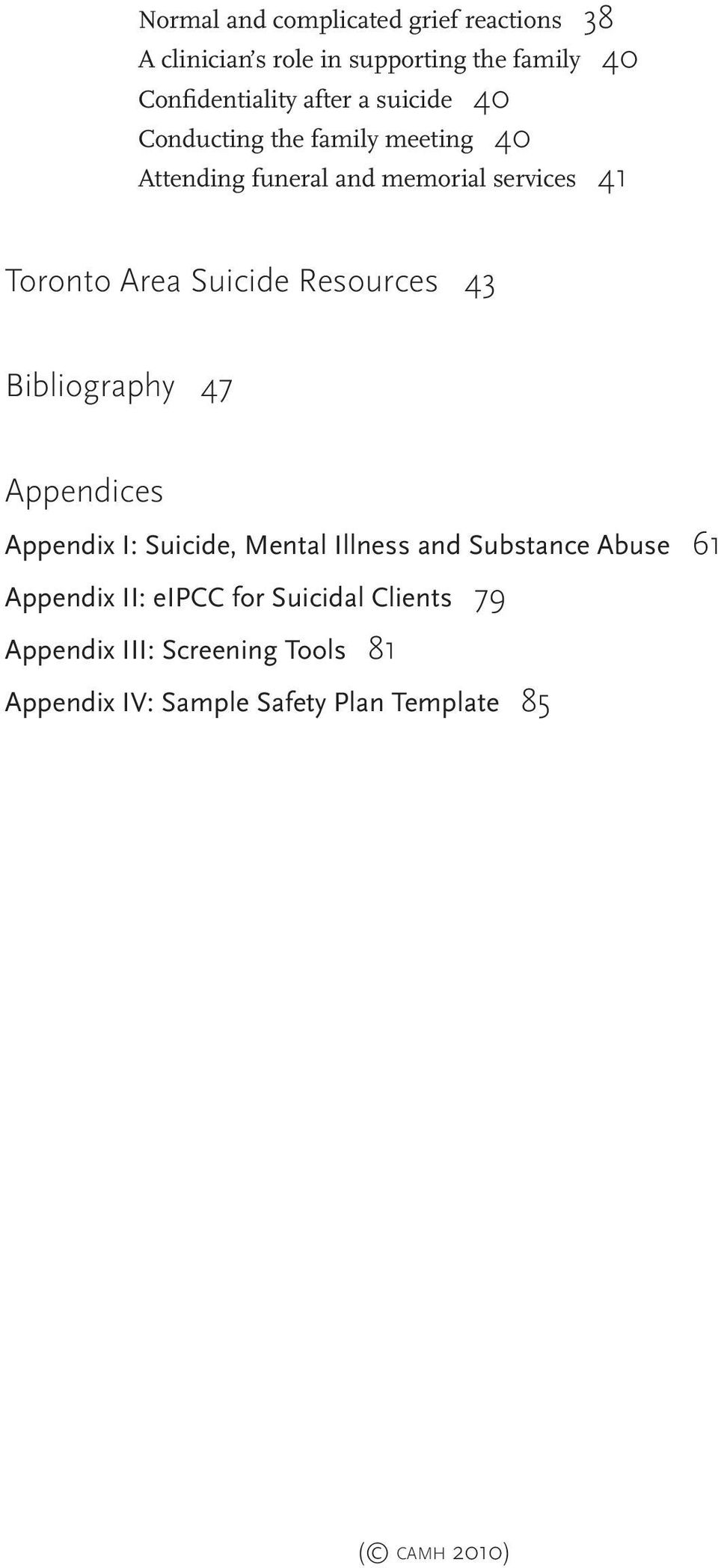 camh Suicide prevention and assessment handbook - PDF