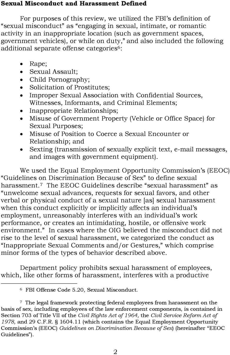 Solicitation of Prostitutes; Improper Sexual Association with Confidential  Sources, Witnesses, Informants, and