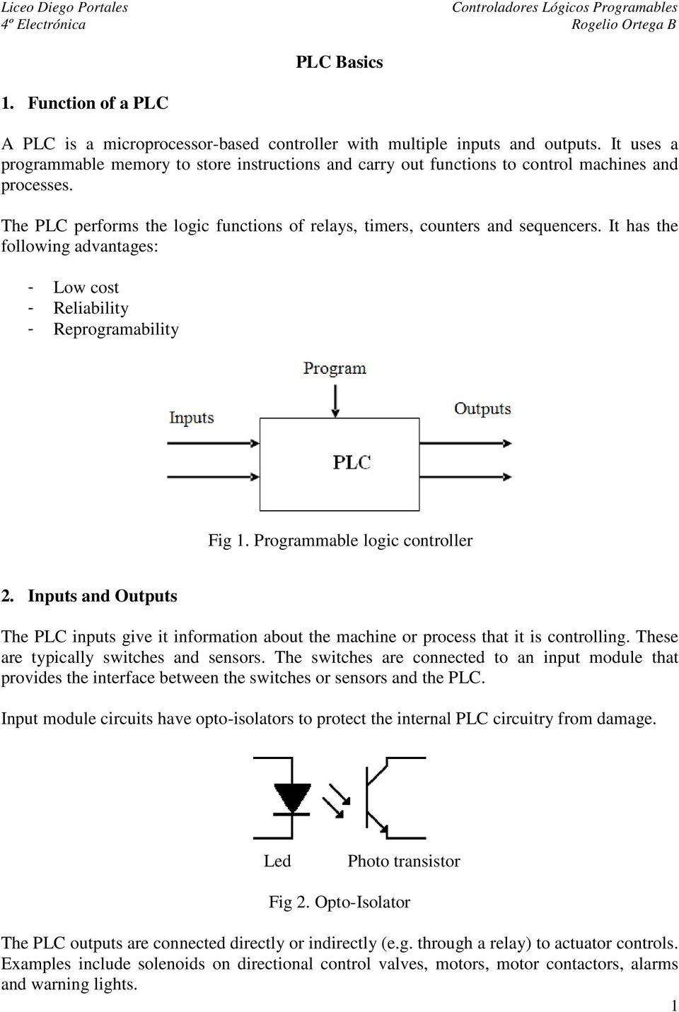 Plc Latched Circuit Example Fig 3 Relay Output Pdf It Has The Following Advantages Low Cost Reliability Reprogramability 1