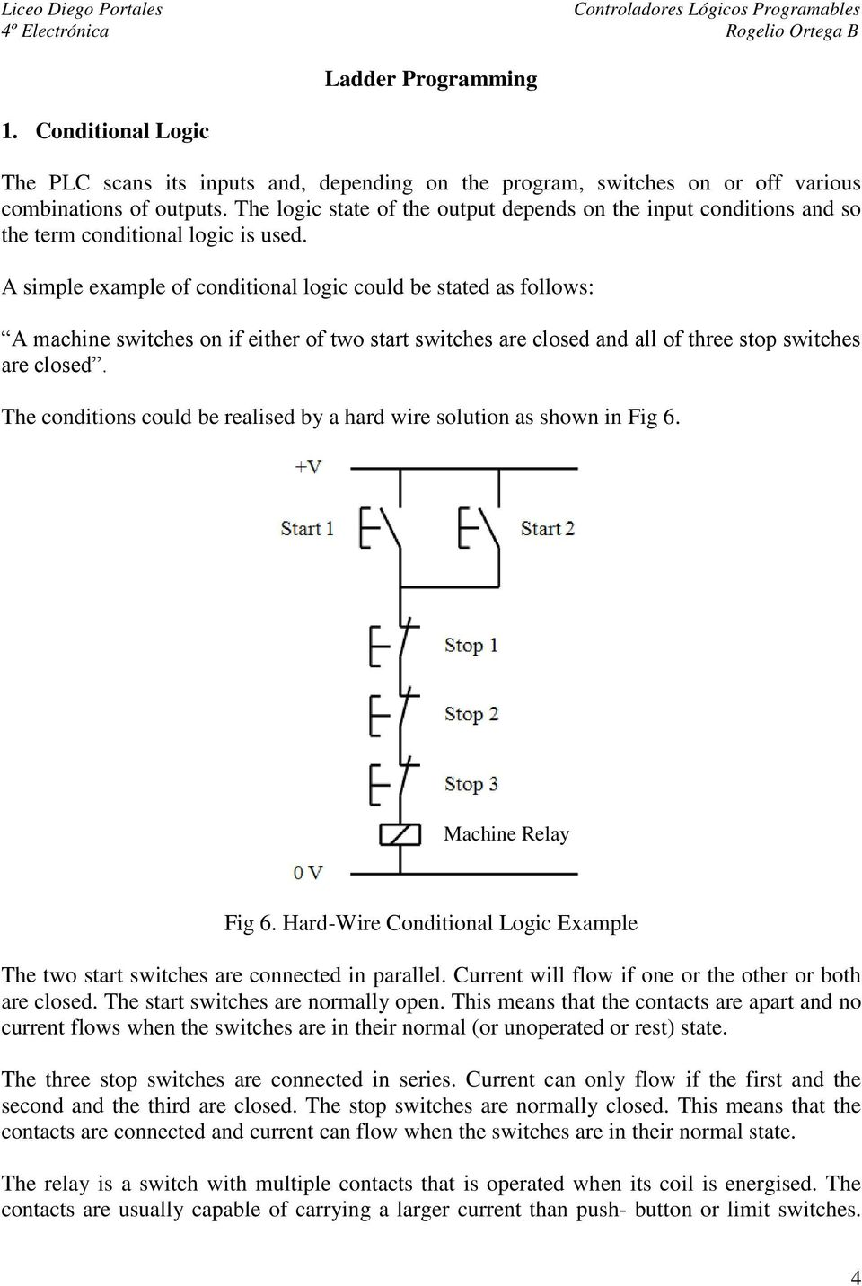 Fig 3 Plc Relay Output Pdf Logic Wiring A Simple Example Of Conditional Could Be Stated As Follows Machine Switches On