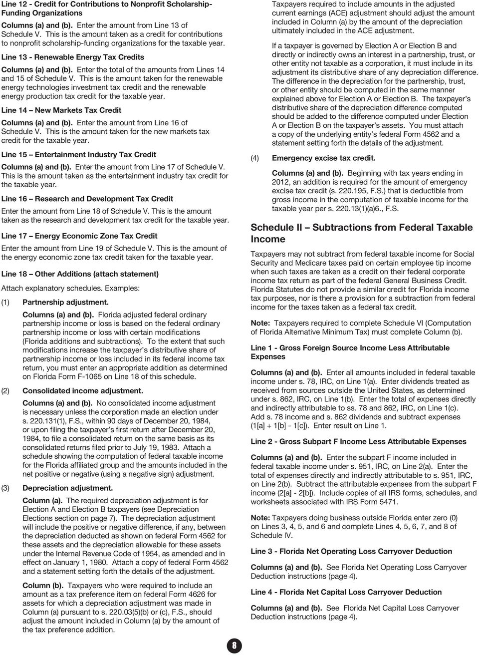 F-1120 INSTRUCTIONS. What s Inside. Florida Department of Revenue - PDF