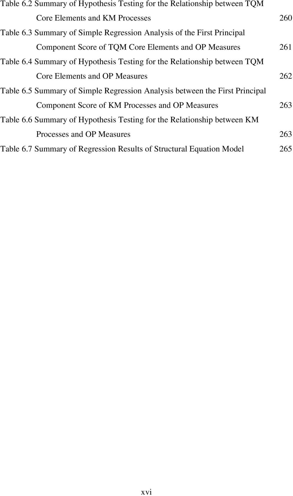 The impact of total quality management on knowledge management and 4 summary of hypothesis testing for the relationship between tqm core elements and op measures 262 ccuart Gallery