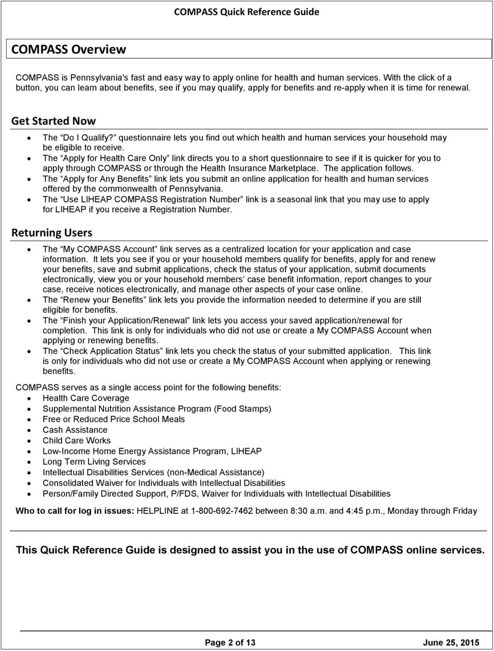 Compass Quick Reference Guide Pdf Free Download