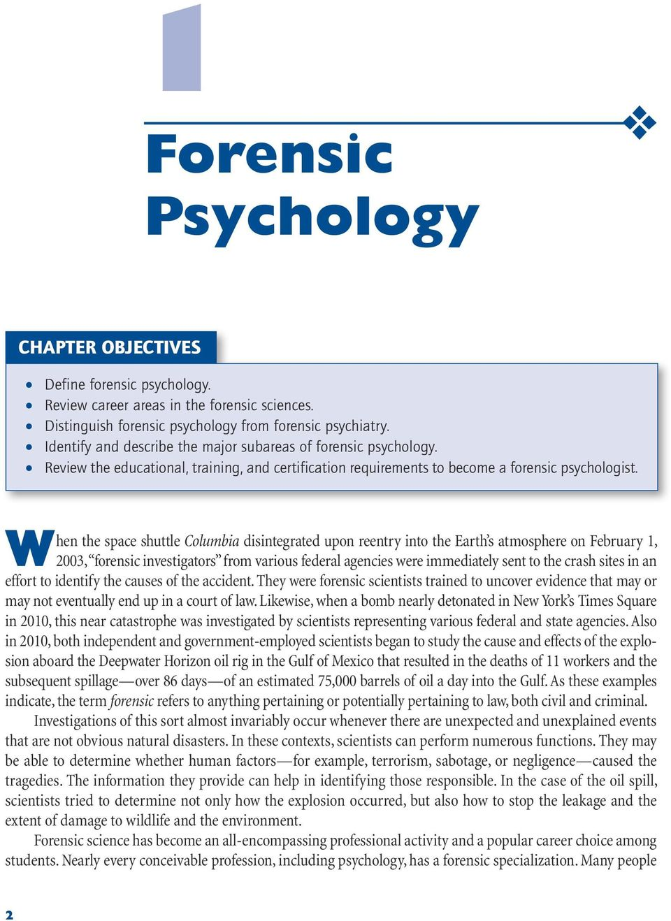 Forensic Psychology Chapter Objectives Pdf Free Download
