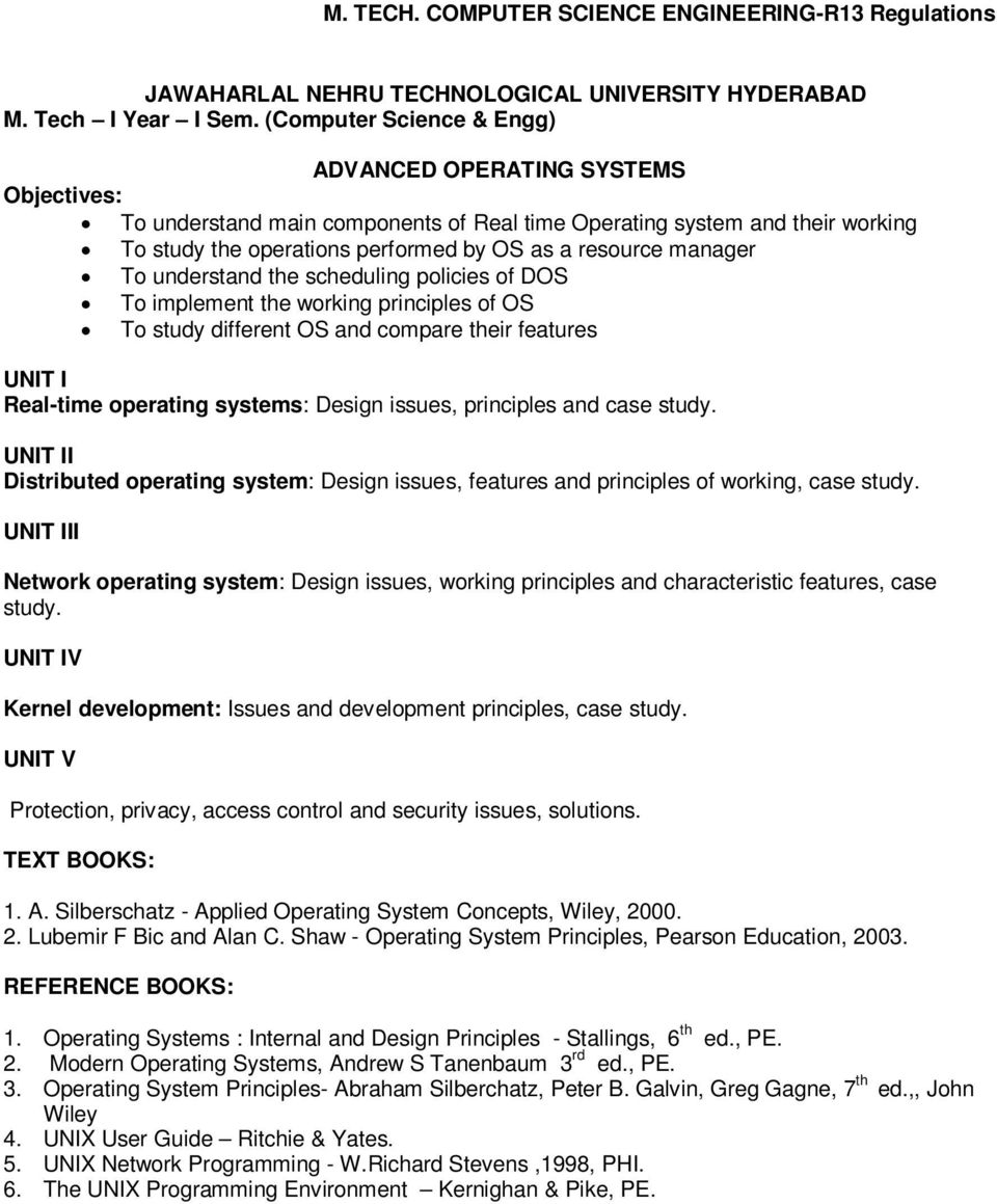 M Tech Computer Science Engineering Pdf Free Download