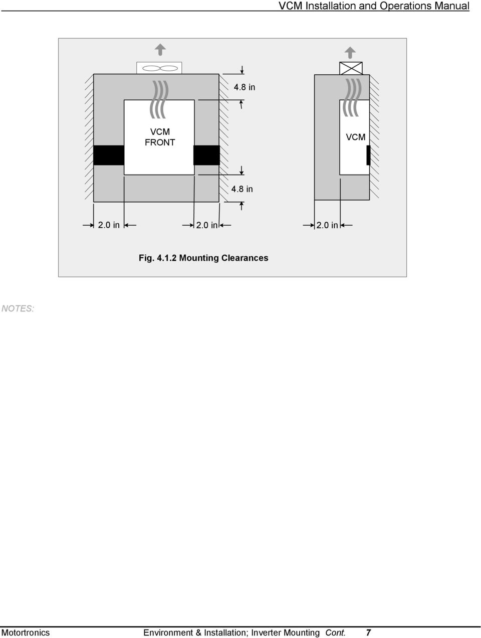 Vcm Installation And Operations Manual Table Of Contents Pdf 7segdriverinverterwiringdiagramjpg 412 Mounting Clearances Notes Motortronics