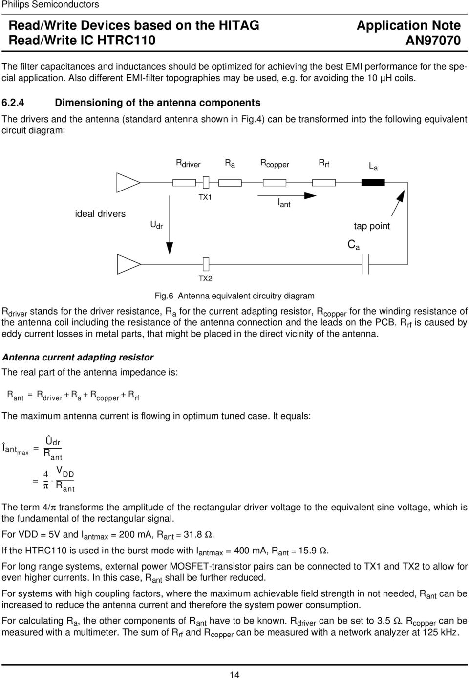 Read Write Devices Based On The Hitag Ic Htrc110 Pdf Ekg Fm Demodulator Circuit Diagram Tradeoficcom 4 Can Be Transformed Into Following Equivalent R Driver A