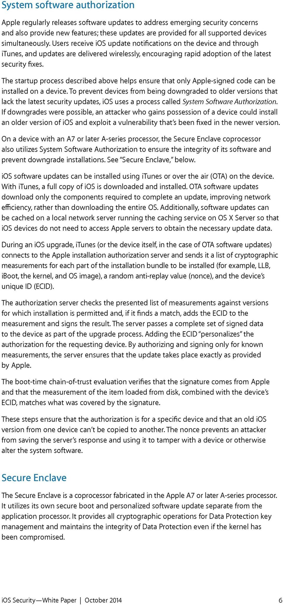 ios Security October 2014 ios 8 1 or later - PDF