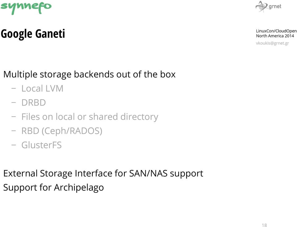 SYNNEFO: A COMPLETE CLOUD PLATFORM OVER GOOGLE GANETI WITH