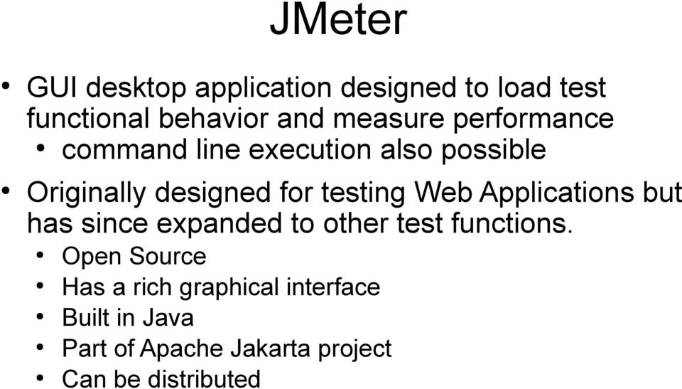 Applications but has since expanded to other test functions.