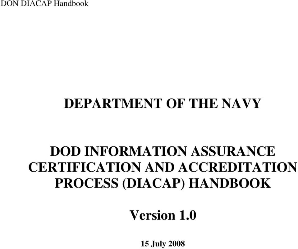 Department Of The Navy Dod Information Assurance Certification And