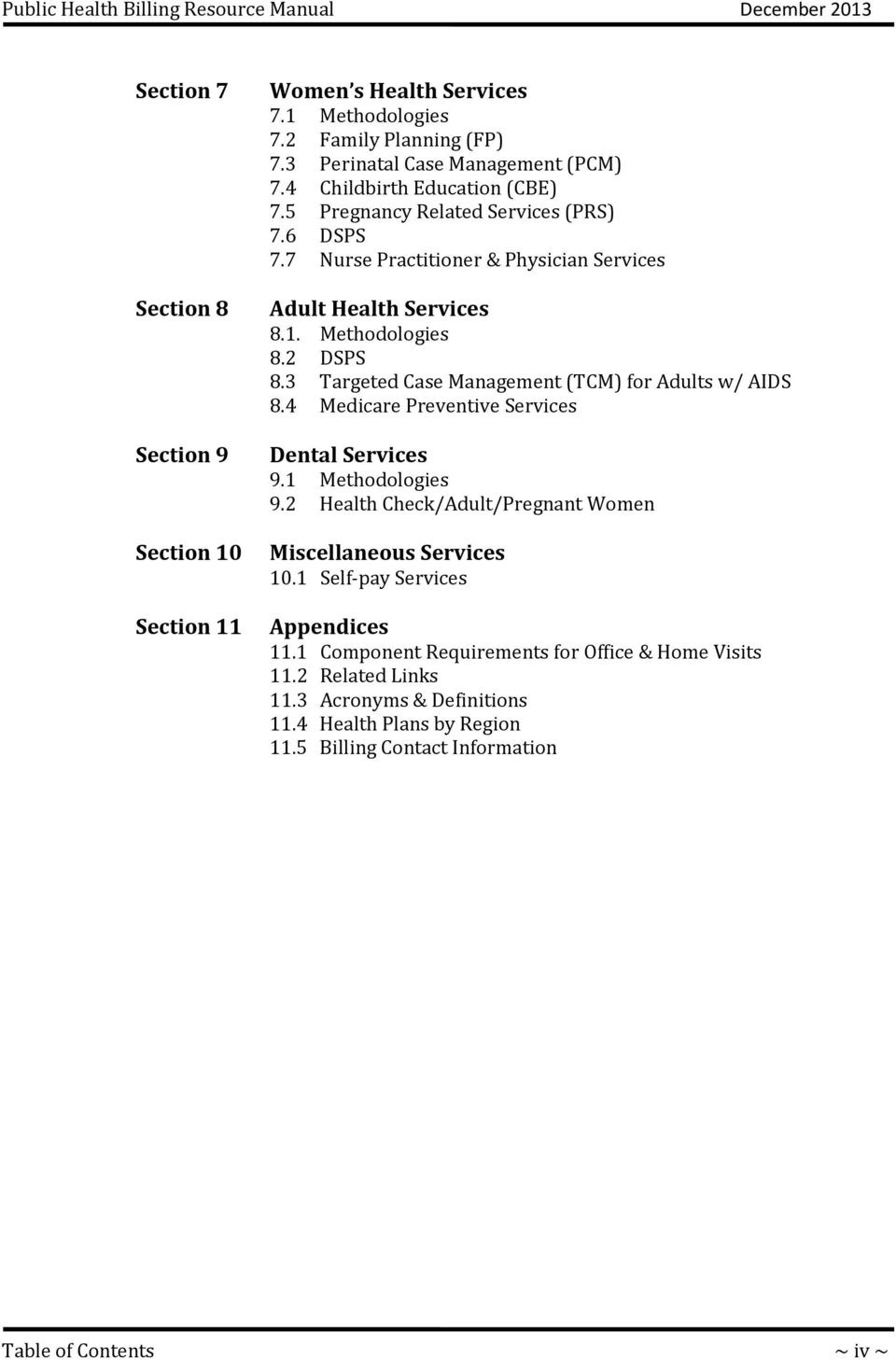 3 Targeted Case Management (TCM) for Adults w/ AIDS 8.4 Medicare Preventive  Services