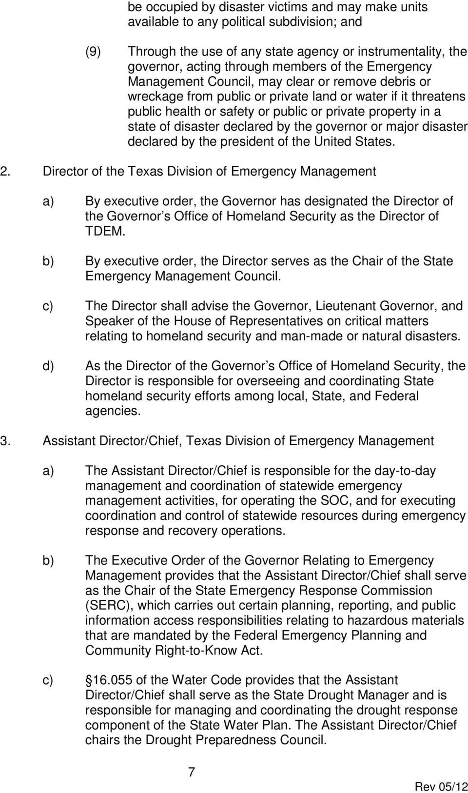 STATE OF TEXAS EMERGENCY MANAGEMENT PLAN - PDF