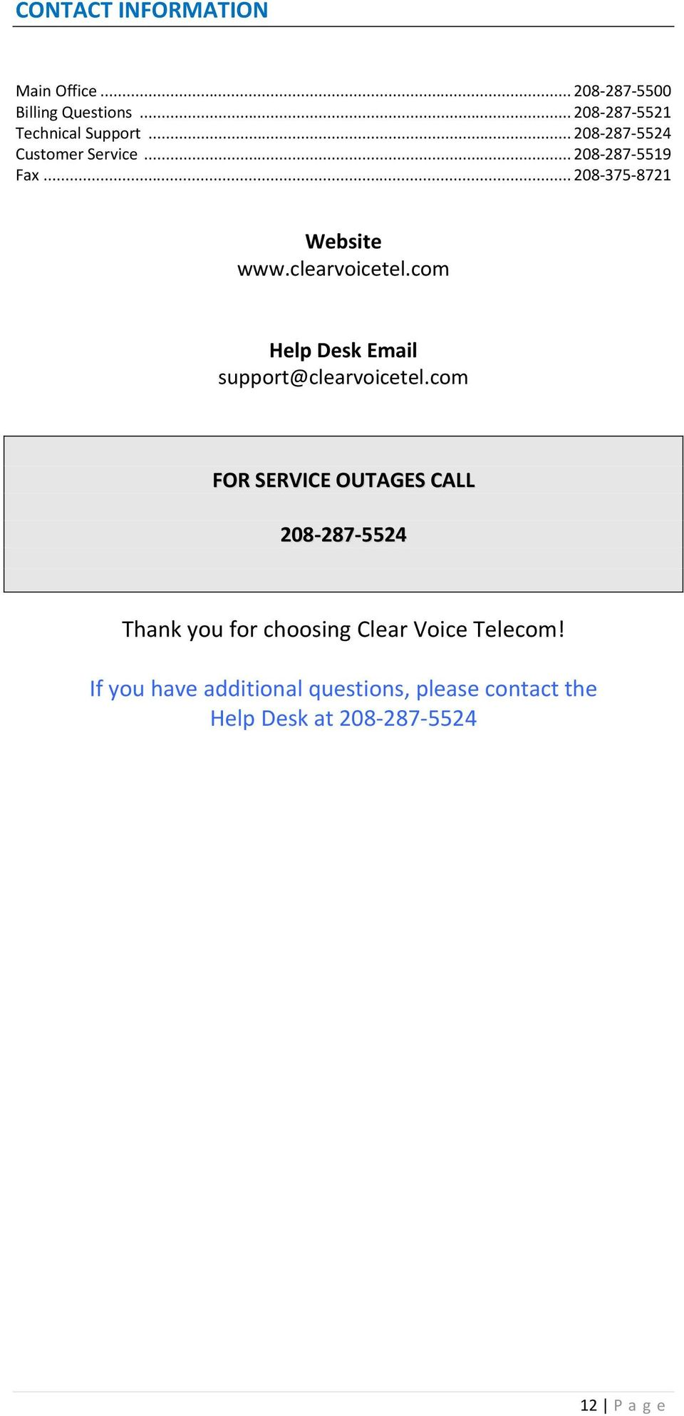 com Help Desk Email support@clearvoicetel.