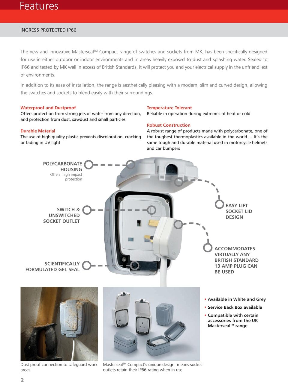 Masterseal Tm Compact Ingress Protected Ip66 Pdf Mk Wiring Devices Catalogue Sealed To And Tested By Well In Excess Of British Standards It Will 3 Socket Outlets Switches