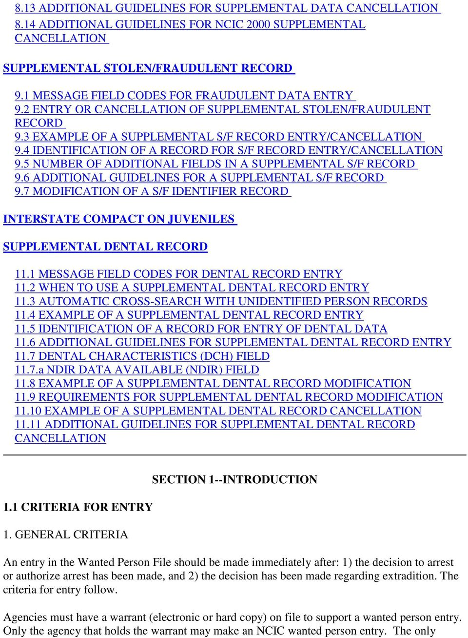 ncic 2000 operating manual wanted person file pdf rh docplayer net NCIC Codes for Vehicles NCIC Vehicle Model Codes Spreadsheet