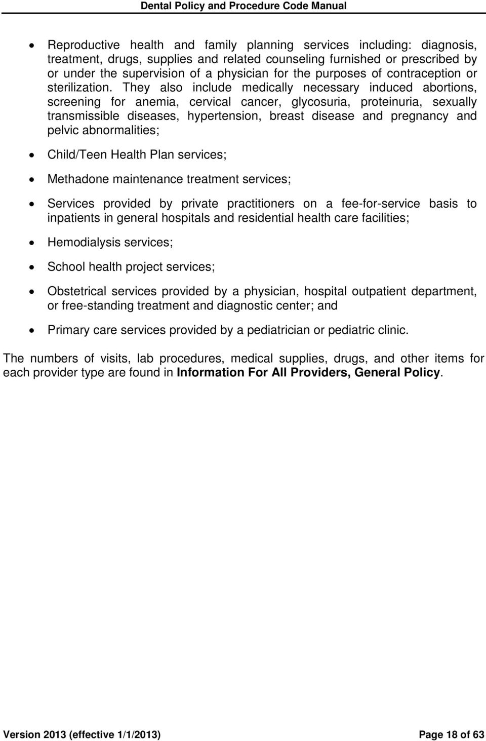 NEW YORK STATE MEDICAID PROGRAM DENTAL POLICY AND PROCEDURE CODE