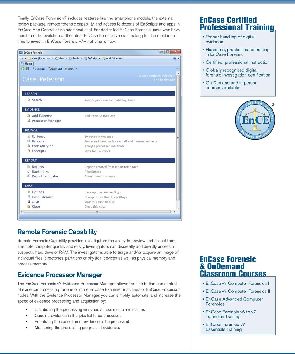 Encase Forensic Product Overview Pdf