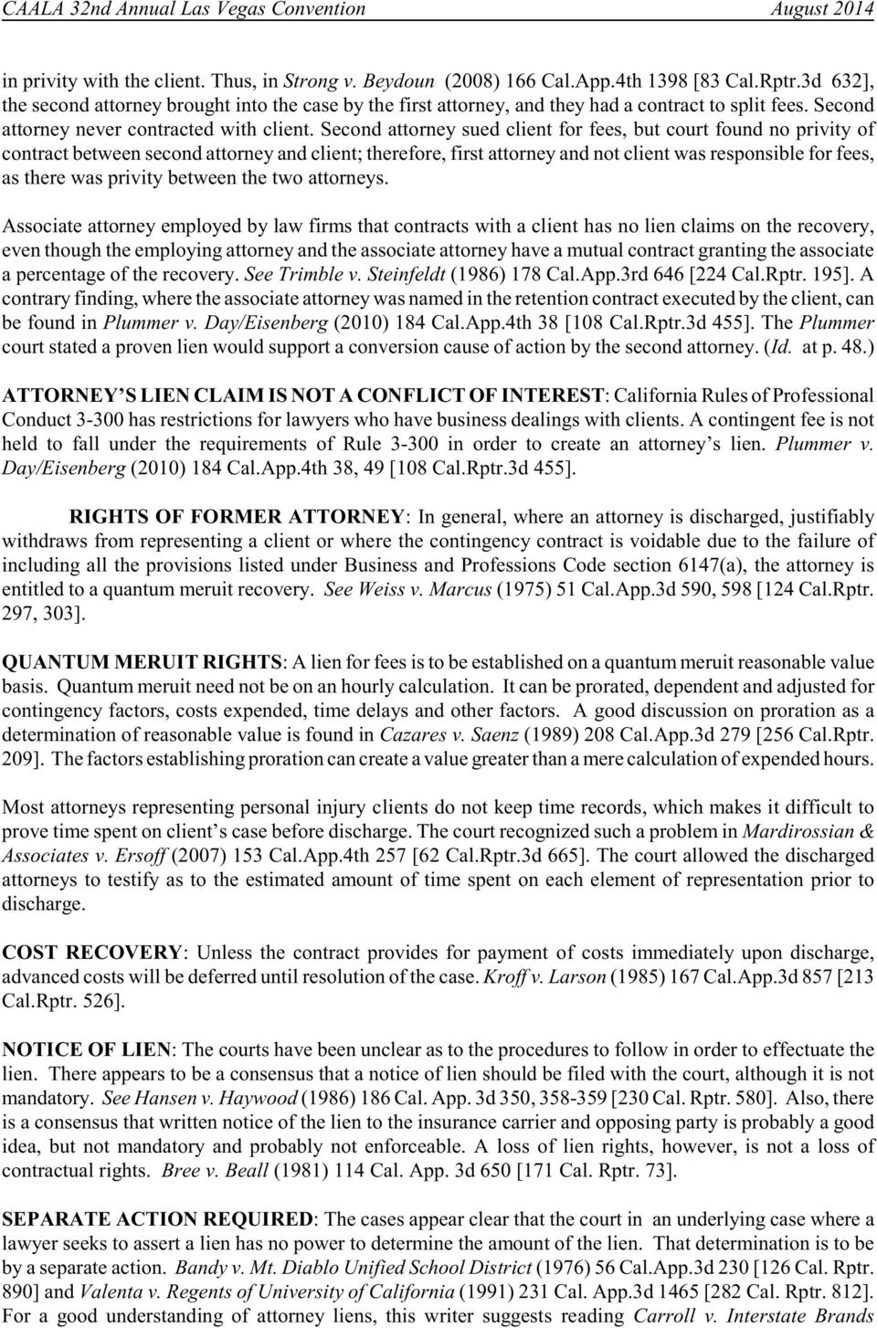 california rules of professional conduct conflict of interest