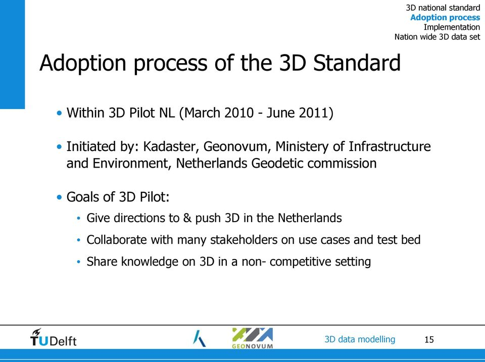 3D Data Modelling in the Netherlands - PDF
