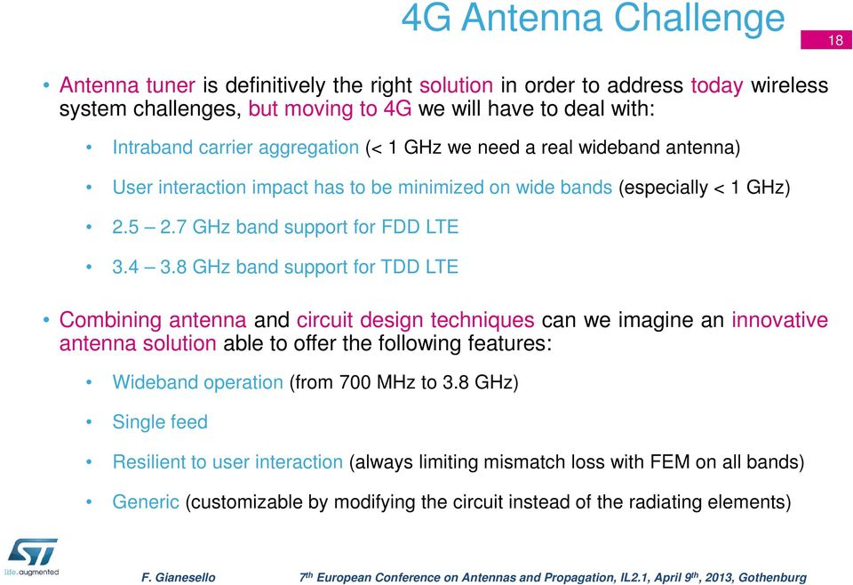 Innovate in a 4G world: RFIC designers discovering antennas