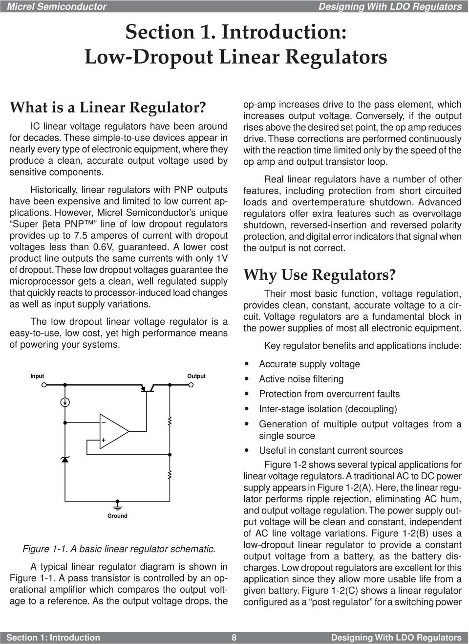 Designing With Low Dropout Voltage Regulators Pdf Positive Regulator Pnp Boost Historically Linear Outputs Have Been Expensive And Limited To Current Applications