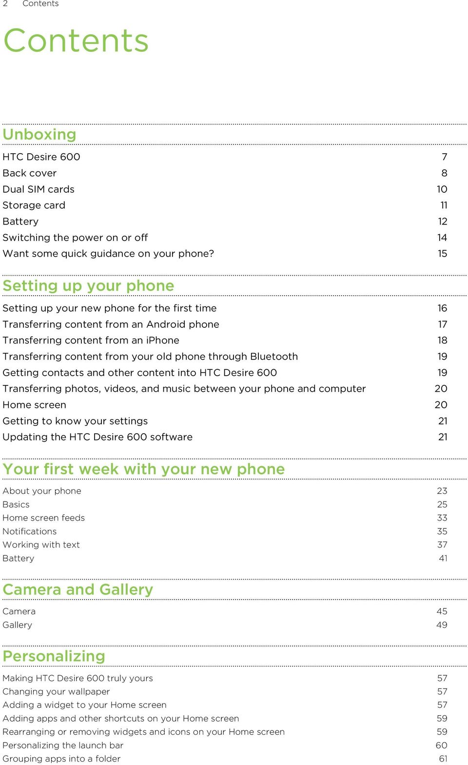 Your HTC Desire 600 dual sim User guide - PDF