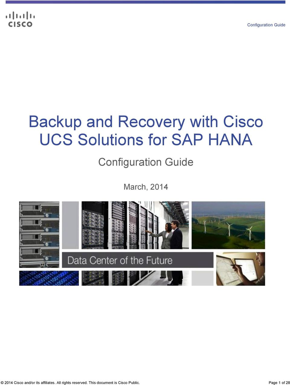 Backup and Recovery with Cisco UCS Solutions for SAP HANA - PDF
