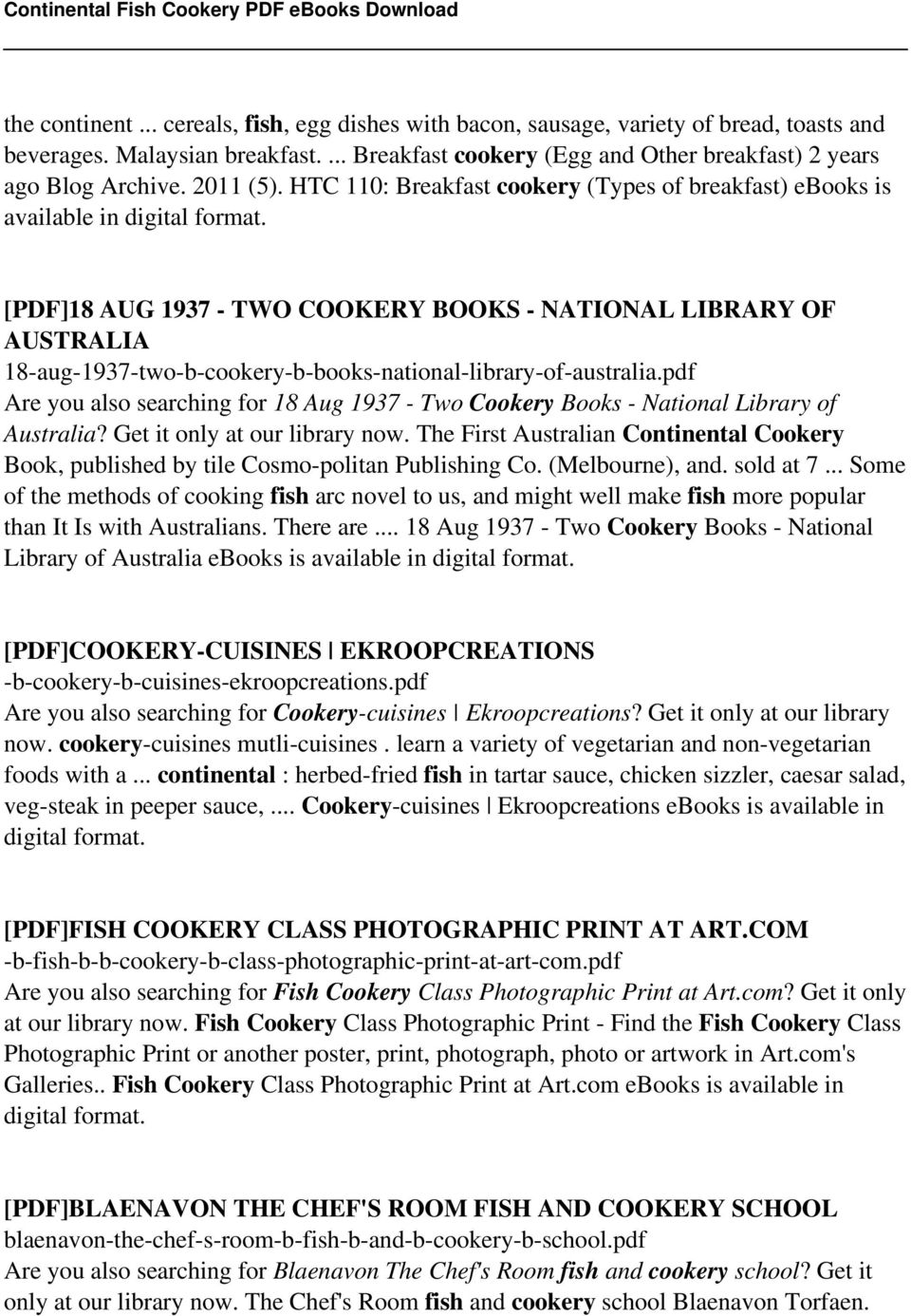 Continental fish cookery pdf pdf pdf18 aug 1937 two cookery books national library of australia 18 fandeluxe Gallery